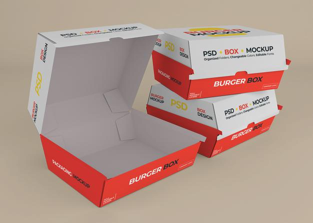 box hamburger personalizzato